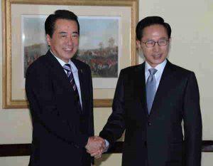 10月4日は何の日【菅直人首相】韓国・李明博大統領と会談