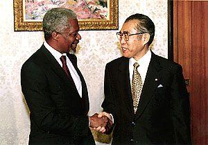 10月21日は何の日【小渕恵三首相】国連・アナン事務総長と会談