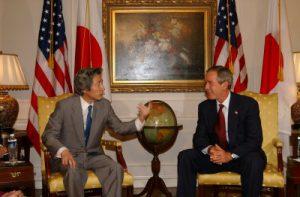 9月12日は何の日【小泉純一郎首相】米・ブッシュ大統領と会談