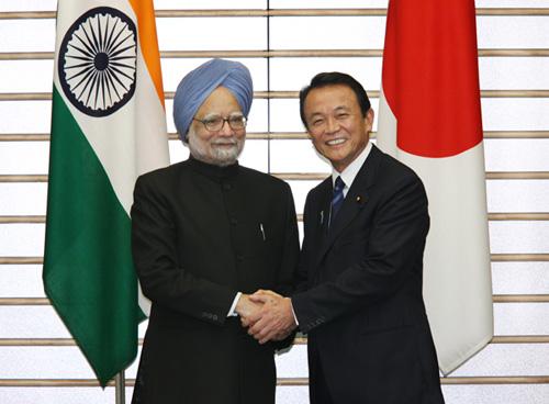 10月22日のできごと(何の日)【麻生太郎首相】インド・シン首相と会談
