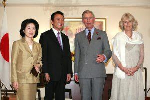10月29日は何の日【麻生太郎首相】英皇太子夫妻と会談