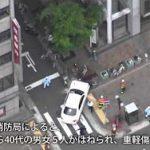 5月3日のできごと【神戸市中央区】乗用車が暴走、7人重軽傷