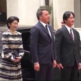 5月11日のできごと【秋篠宮ご夫妻】イタリア・マッタレッラ大統領と面会