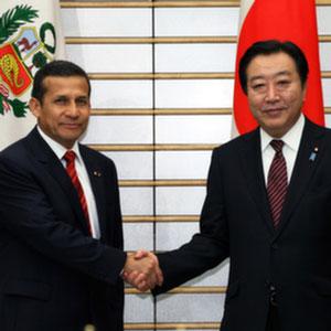 5月9日のできごと【野田佳彦首相】ペルー・ウマラ大統領と会談
