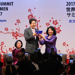 5月11日のできごと【安倍晋三首相】世界女性サミットであいさつ